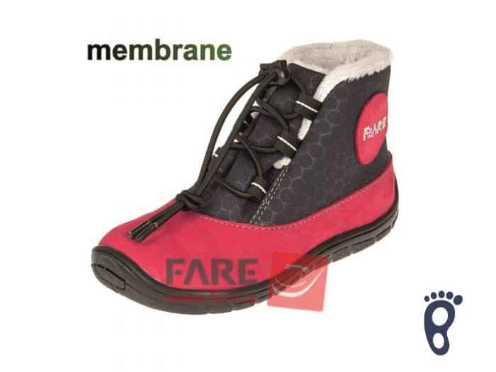 Fare Bare - Zateplené topánky - Červené s membránou 1