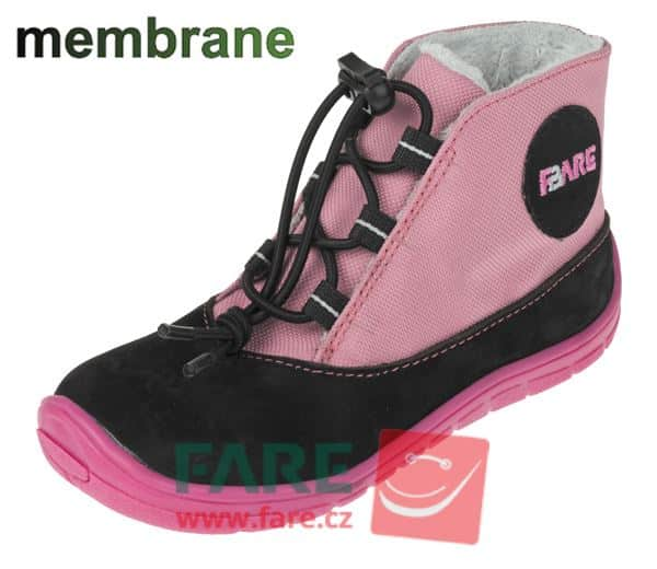 Fare Bare - Zimné topánky - Ružové - s membránou 1