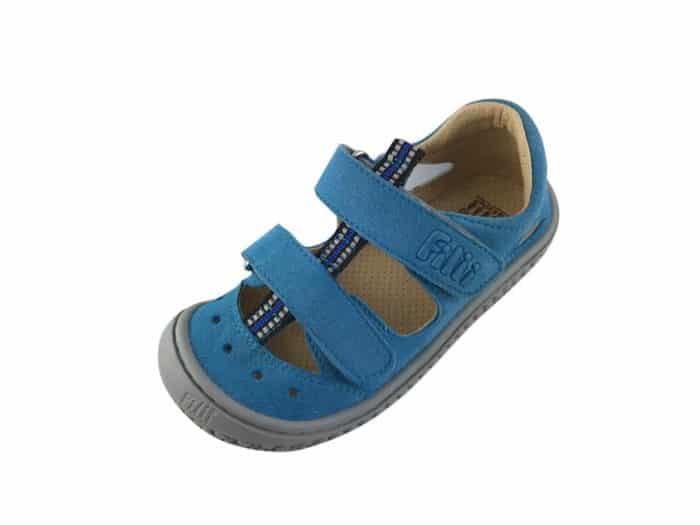 filii barefoot kaiman vegan velcro textile turquoise w