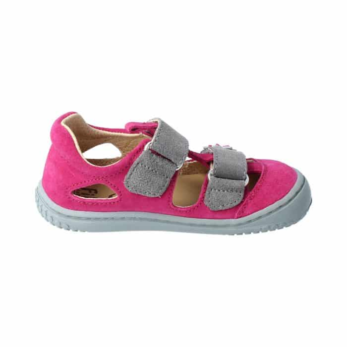 Filii - Kaiman - Velours Leather Pink Velcro M - New 2
