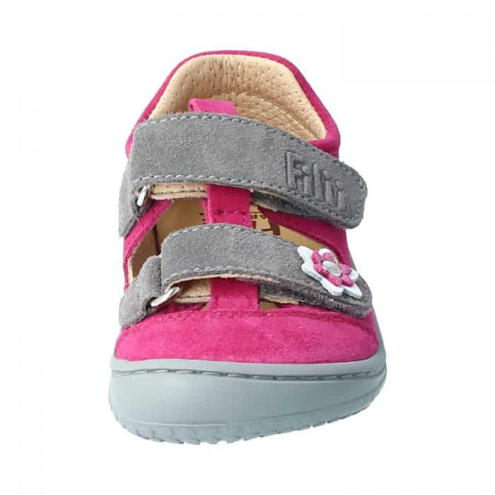 Filii - Kaiman - Velours Leather Pink Velcro M - New 3