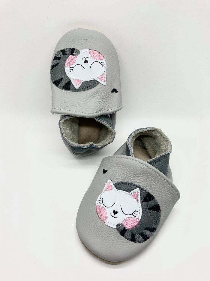 FootStep - Kožené capačky - Mačička 1