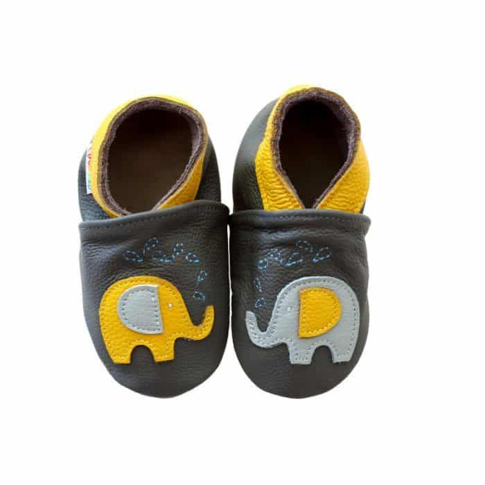 footstep capacky kozene barefoot detske chlapcenske sloniky