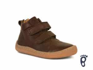froddo barefoot celorocne vyssie dark brown prechodne topanky pre deti kozene celokozene