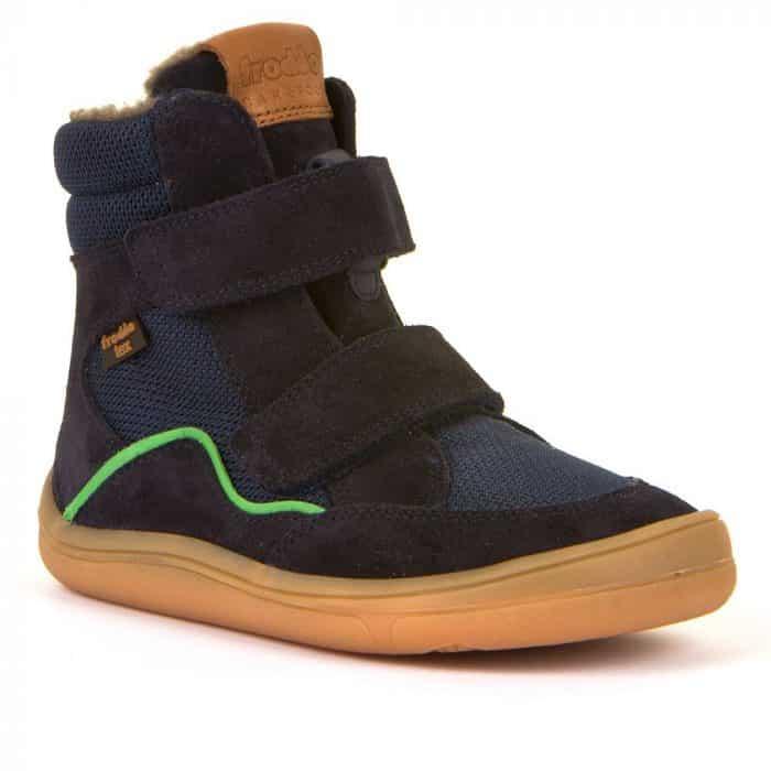 froddo barefoot tex membrana winter zimne topanky pre deti zateplene blue dark tmavomodre