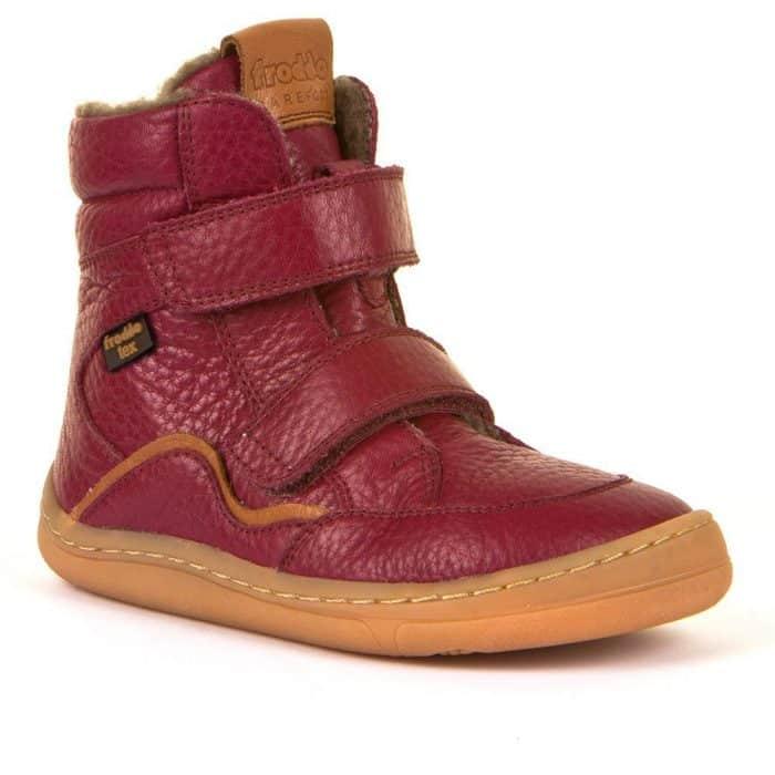 froddo barefoot tex membrana winter zimne topanky pre deti zateplene cizmy bordeaux