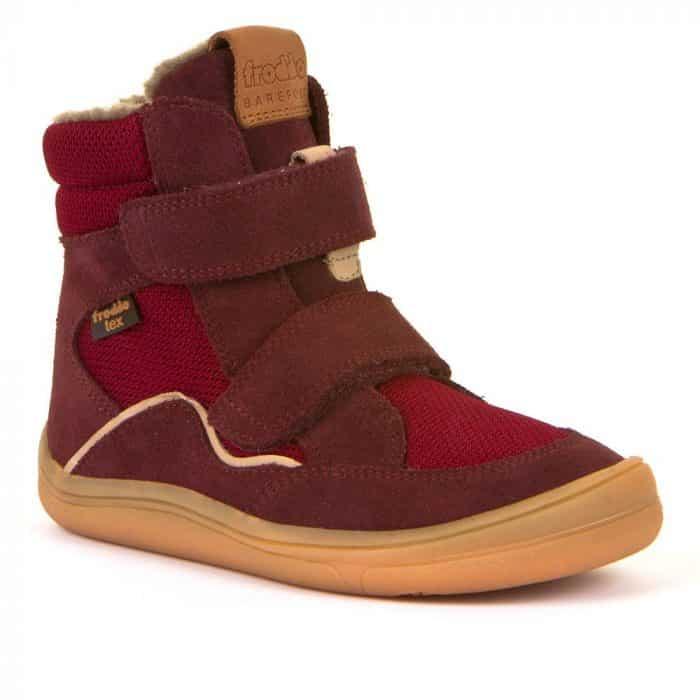 froddo barefoot tex membrana winter zimne topanky pre deti zateplene bordeaux textilne