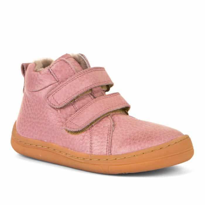 froddo barefoot winter furry pink jahnacia kozusina zimne zateplene topanky