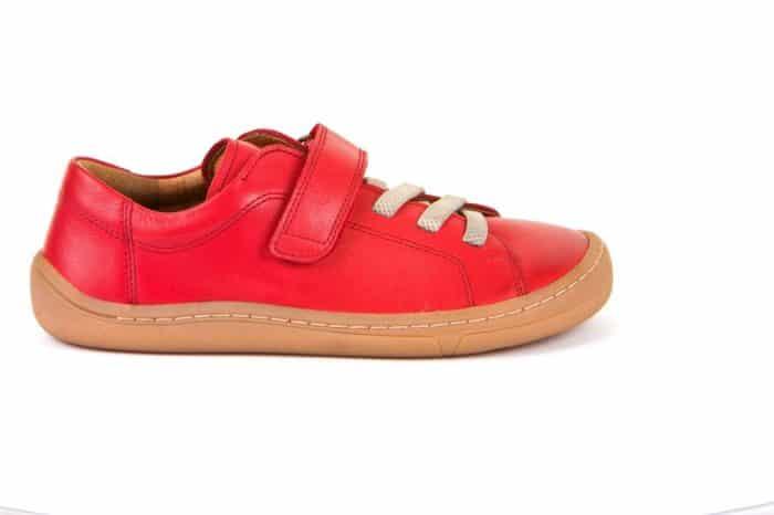 Froddo - Barefoot - Celoročné - Red - suchý zips + šnúrky 2021 1