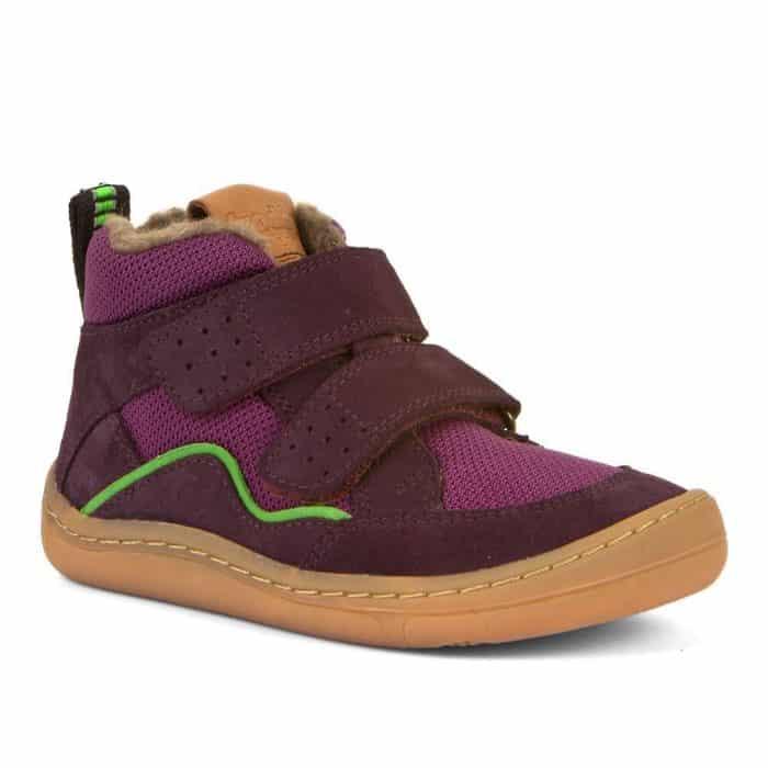 froddo zimne topanky barefoot winter wool purple