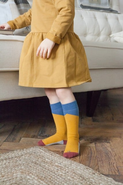 jeej design detske podkolienky geometric jeans