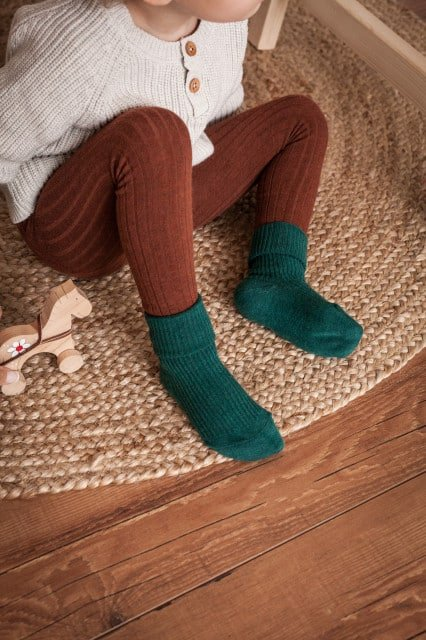 Jeej DESIGN - Rib socks Baby & Kids forest 4