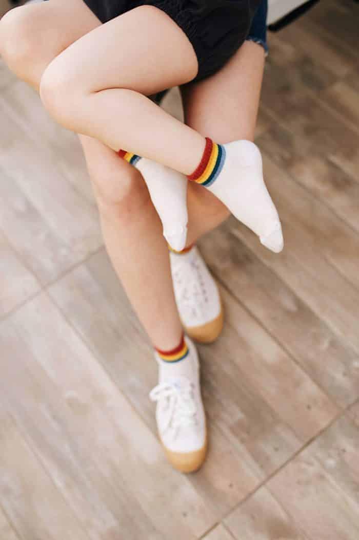 jeej design scandi rainbow ankle socks