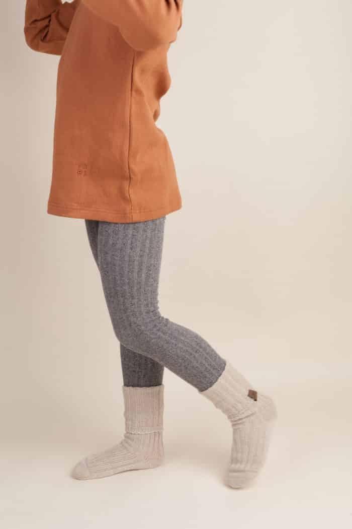 Jeej DESIGN - Pančuchové vrúbkované legíny Grey jeans 1