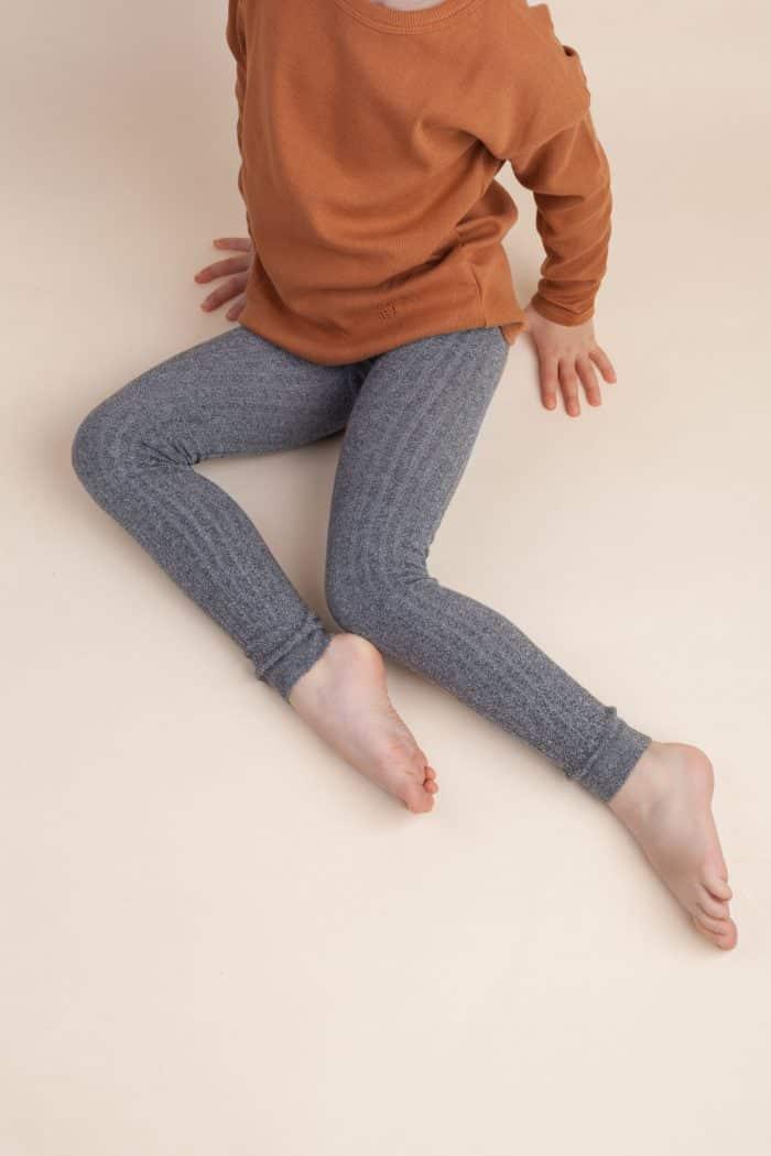 Jeej DESIGN - Pančuchové vrúbkované legíny Grey jeans 2