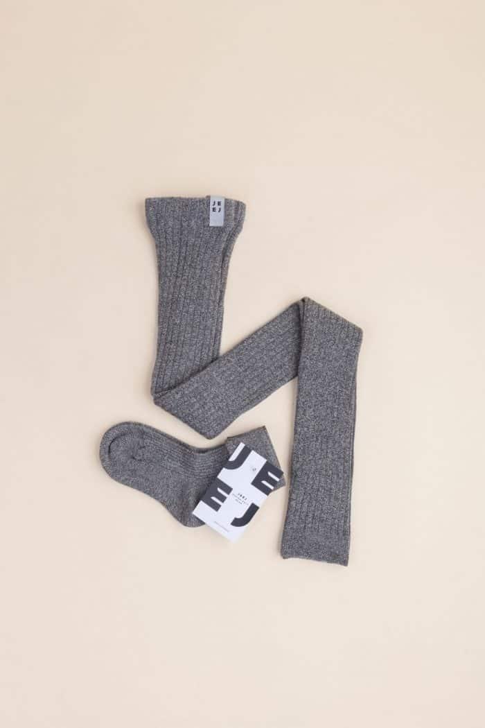 Jeej DESIGN - Pančuchové vrúbkované legíny Grey jeans 3