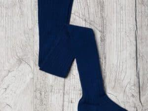 jeej design vrubkovane pancuchove nohavice kobalt blue