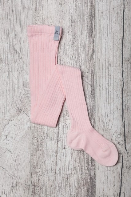 jeej design vrubkovane pancuchove nohavice pink