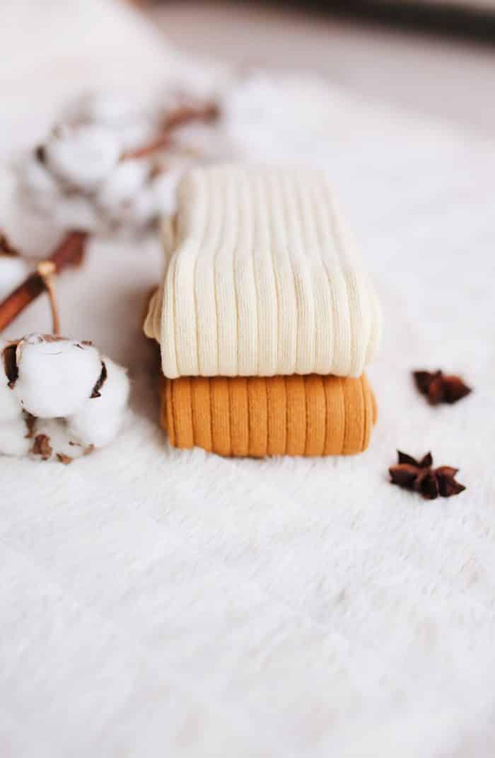 jeej design vrubkovane podkolienky baby kids vanilla