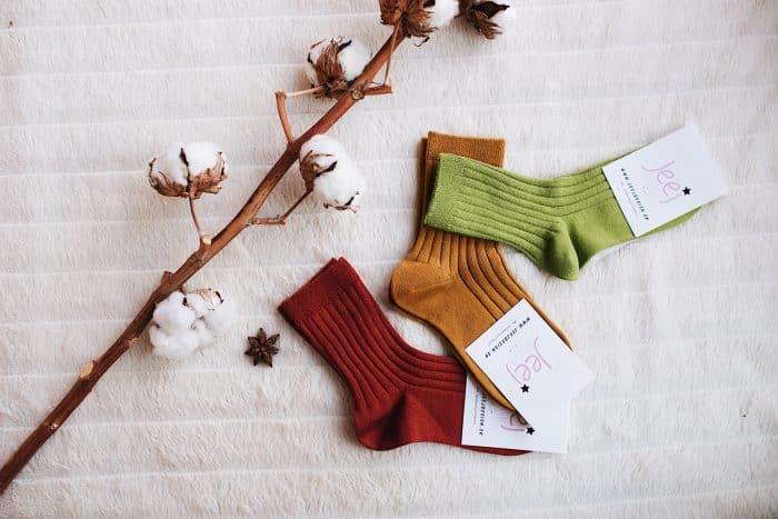 jeej design vrubkovane ponozky baby kids  clay