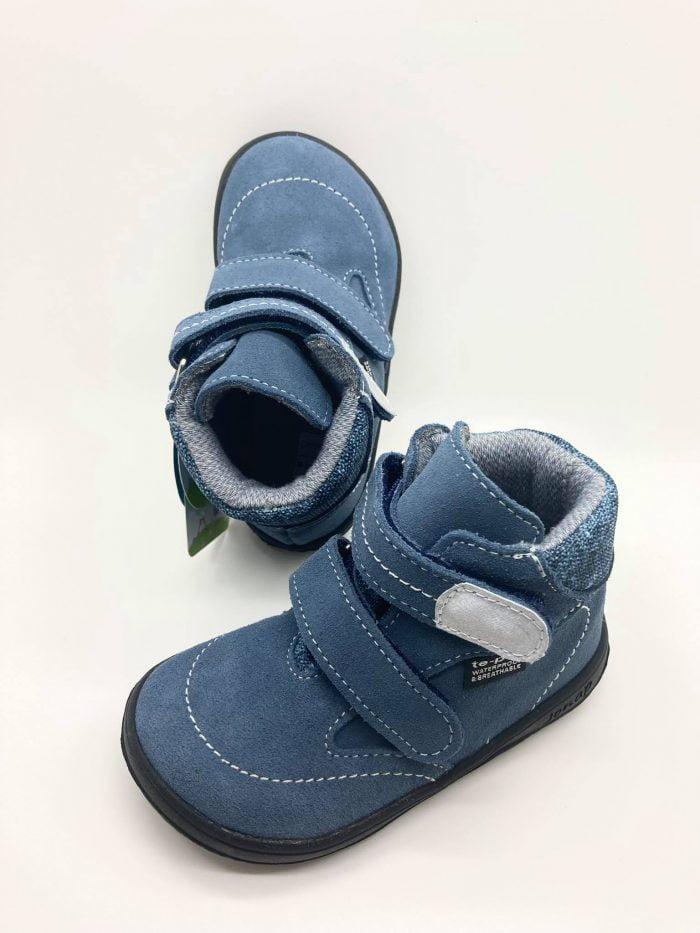 jonap b5s barefoot zateplene zimne topanky pre deti natural wool modre membrana
