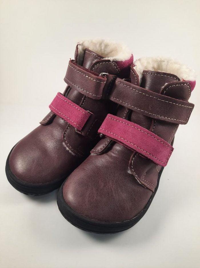 Jonap - B4/MV - Zateplené topánky - Vínové 1