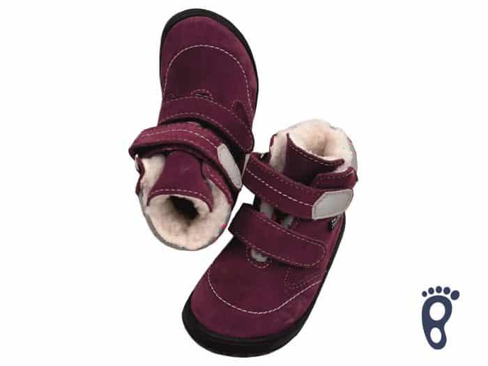 Jonap - B5/SV - Zateplené topánky - Vínové s bodkami - Slim 1