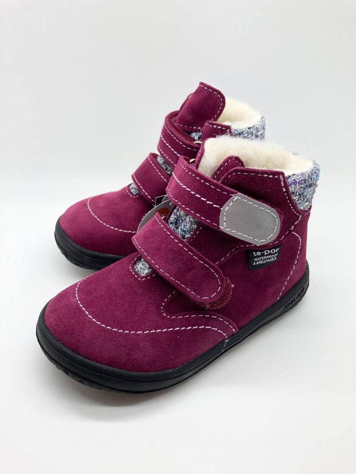 Jonap - B5 S - Zateplené topánky - Vínová natural wool s membránou 1