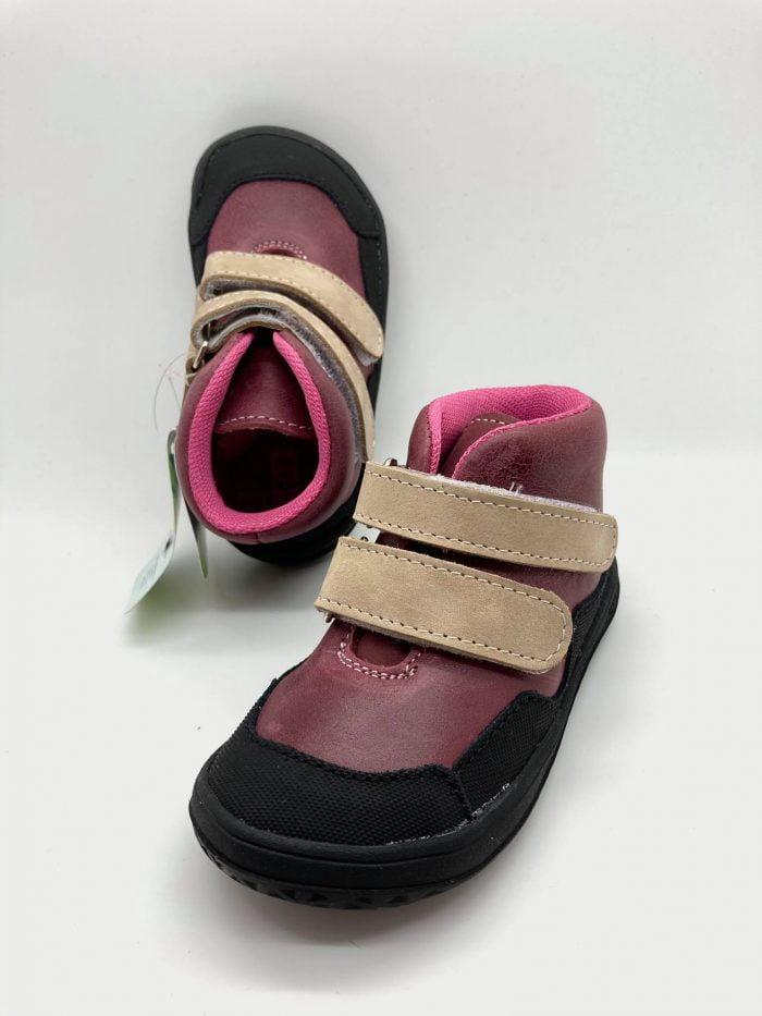 jonap bella m cervene slim barefoot topanky dievcenske barefoot