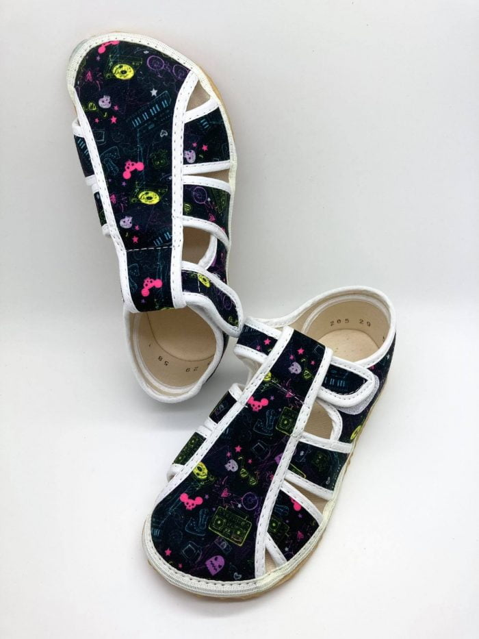 jonap papucky barefoot cierne