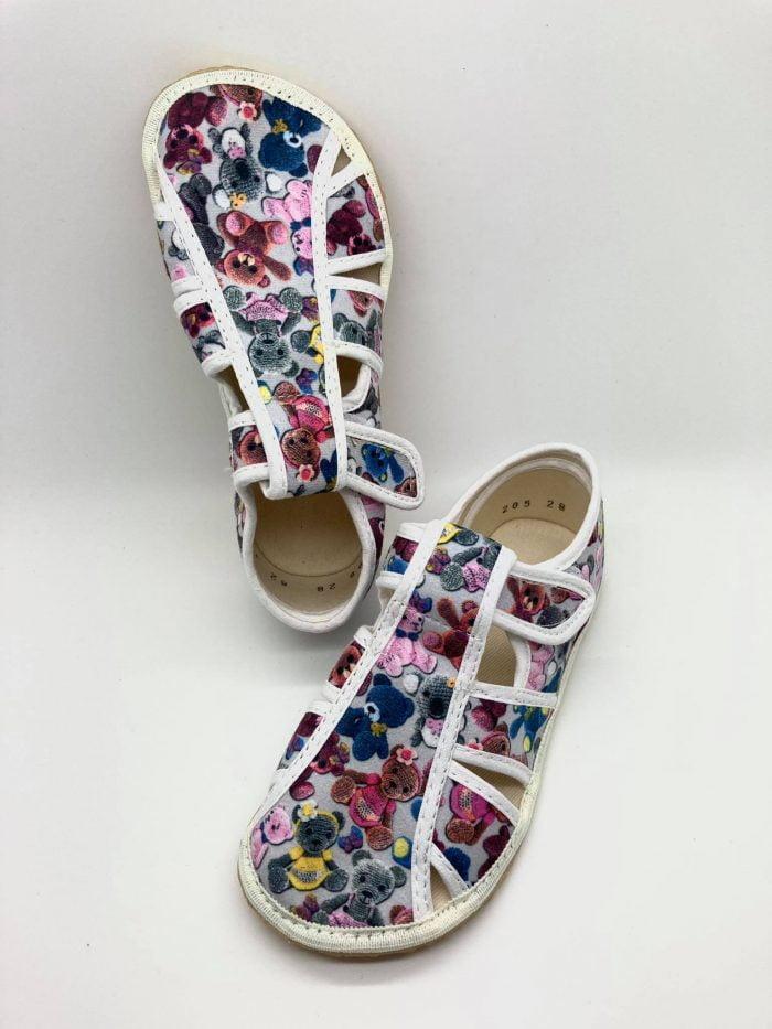 jonap papucky barefoot maciky sive otvorene
