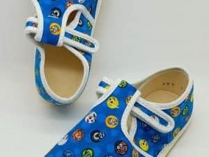 jonap barefoot papucky modre lopty