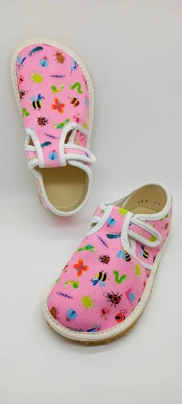 jonap barefoot papucky ruzove lienky