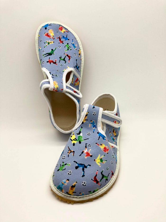 jonap papucky papuce barefoot sive futbal