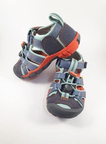 Sandále KEEN - SEACAMP II CNX C - Flint Stone/Ocean Wave veľ 24-31 1