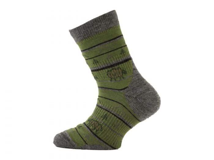 Lasting - Merino ponožky - tenšie - zelené s ovečkou - TJL 688 1