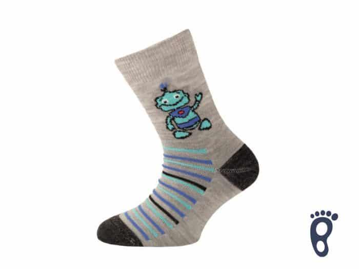 Lasting - Merino ponožky - Tenšie - Robot šedé - TJB 800 1