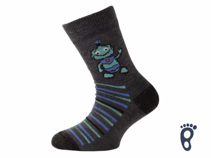Lasting - Merino ponožky - Tenšie - Robot modré - TJB 504 1
