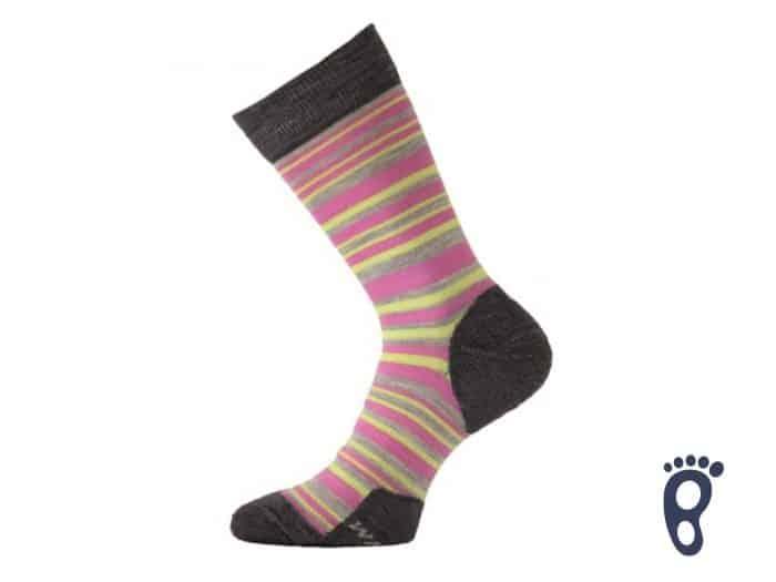 Lasting - Merino ponožky - Tenšie - Ružové prúžky - WWL 504 1