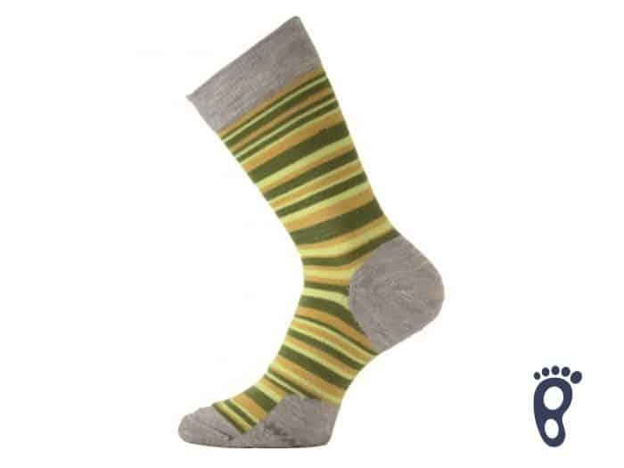 Lasting - Merino ponožky - Tenšie - Žlté prúžky - WWL 806 1
