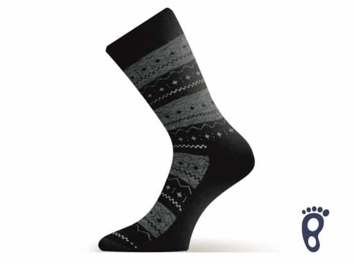 Lasting - Merino ponožky - tmavozelené hrubé - TWP 686 1