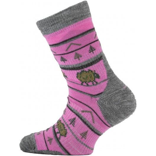 Lasting - Merino ponožky - tenšie - ružové s ovečkou - TJL 408 1