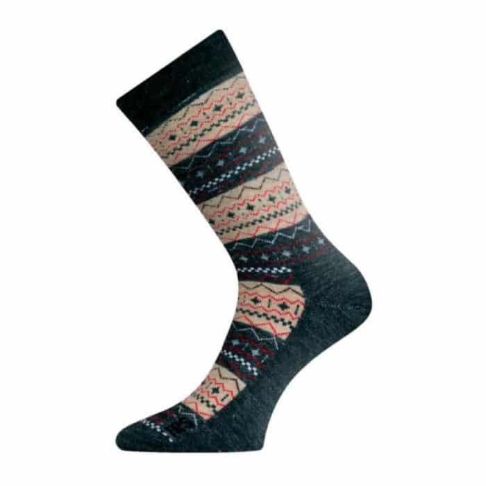 Lasting - Merino ponožky - hnedé hrubé - TWP 807 1