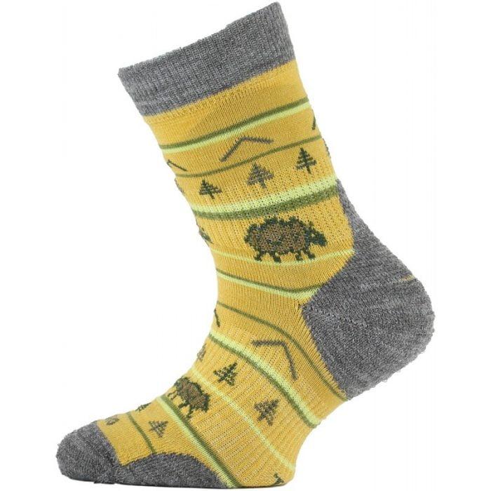 Lasting - Merino ponožky - tenšie - horčicové s ovečkou - TJL 648 1