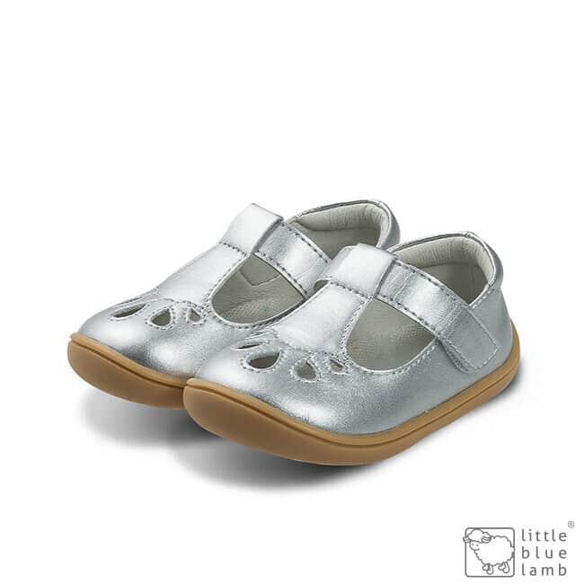 little blue lamb balerinky barefoot perla silver