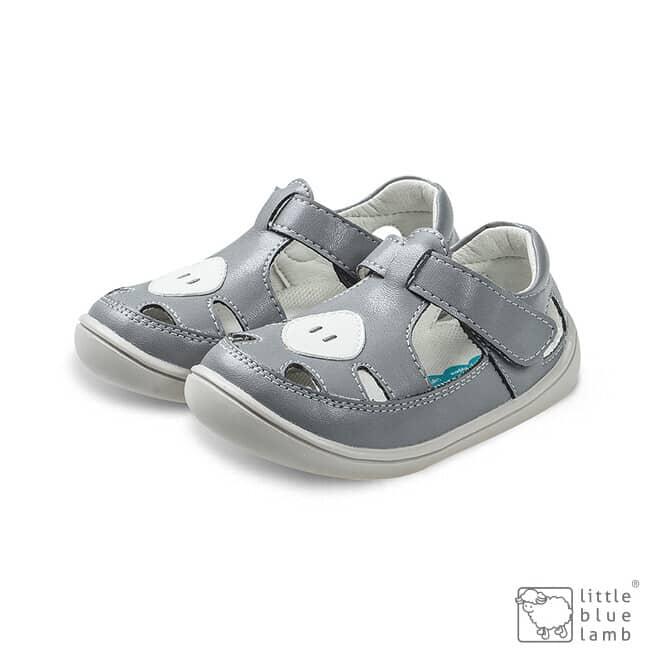 little blue lamb sandalky barefoot padi grey