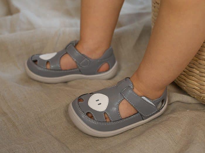 Little Blue Lamb - Padi grey - Sandálky 4