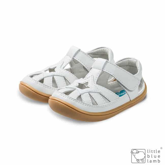little blue lamb sandalky barefoot panga white