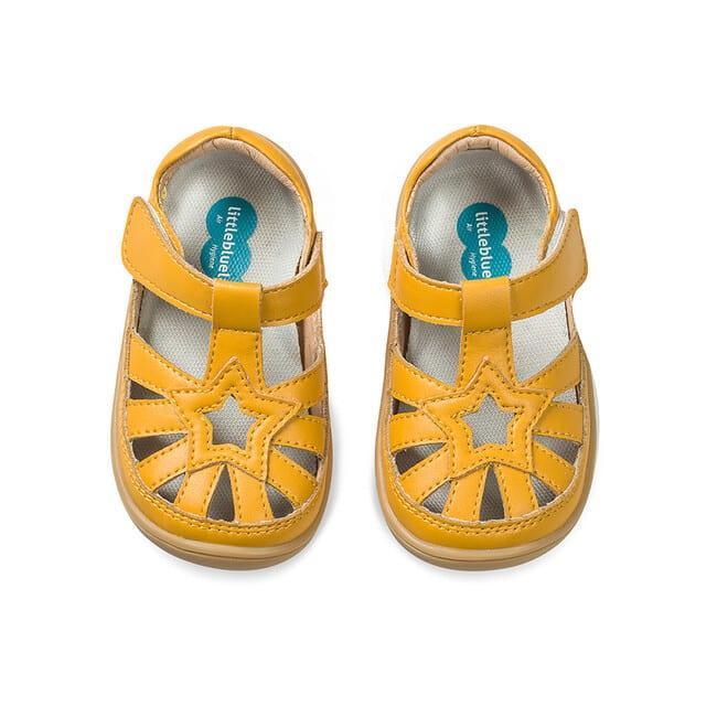 Little Blue Lamb - Panga Yellow - Sandálky 3