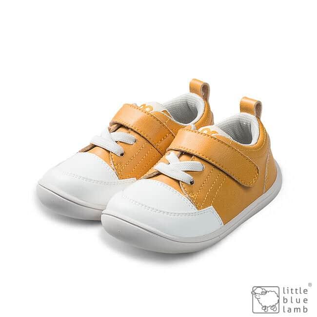 little blue lamb tenisky barefoot prve kroky detske pastel yellow
